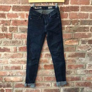 Dark wash skinny skinny madewell jeans 24